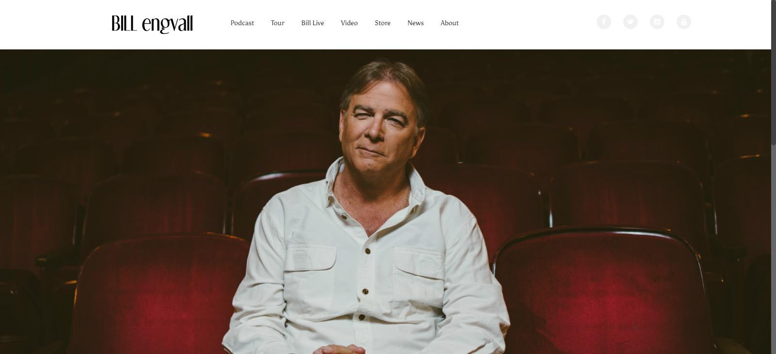 Bill Engvall Website Screenshot