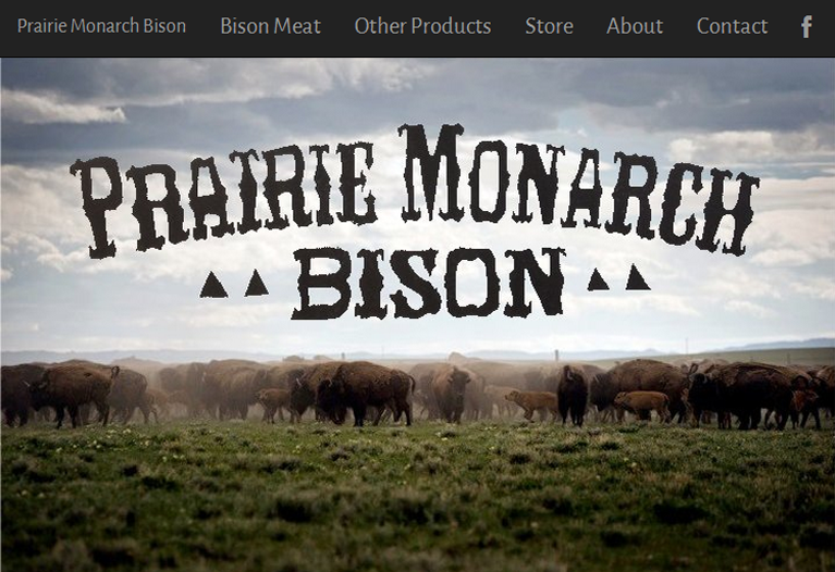 Prairie Mountain Bison Website Screenshot